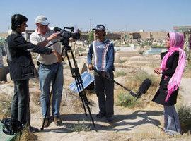 Young TV journalists in Afghanistan (photo: DW)