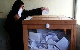 Woman at the election ballot in Al-Arish (photo: Reuters)