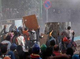 Violent clashes on Tahrir Square (photo: dapd)