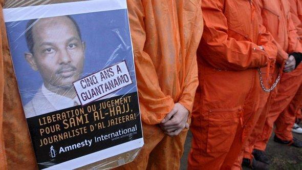 Free Al Hajj campaign protest in Brussels (photo: picture-alliance/dpa)
