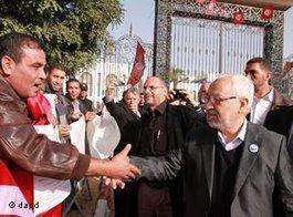 Rachid Ghannouchi, head of the ruling Islamic party Ennahda, in Tunis (photo: dapd)