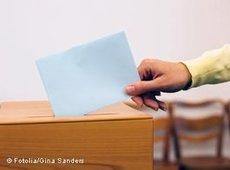 A vote being cast at a local election in Germany (photo: Gina Sanders/Fotolia)