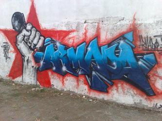 Armada graffiti by Meen-One (photo: courtesy Babelmed.net)