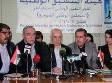 Mitglieder des syrischen Nationalrats; Foto: dpa