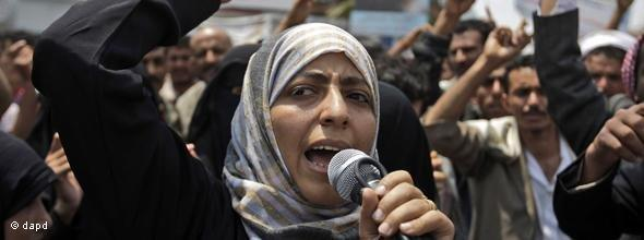Yemeni activist and Nobel Peace Prize laureate Tawakkul Karman (photo: dapd)