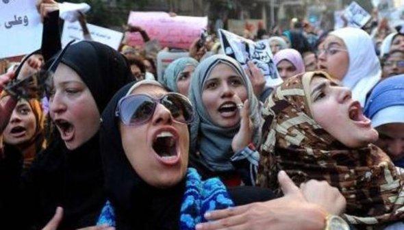 Women demonstrating in Cairo in 2011 (photo: dpa)