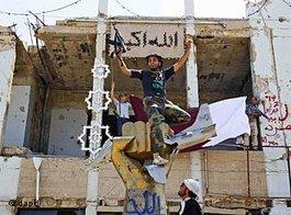 Rebels in Bab al-Assiya (photo: dapd)