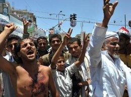 Protesters demand the resignation of Saleh (photo: dpa)