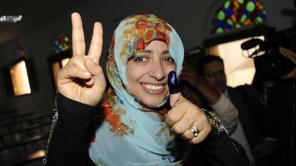 Yemeni activist and Nobel Peace Prize laureate Tawakkul Karman (photo: REUTERS/Stringer)