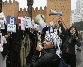 Feminist demonstration in Rabat, Morocco (photo: ddp/AP)