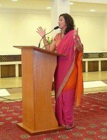 The Indian author Shobhaa De (photo: Stefan Weidner)
