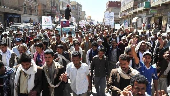 Anti-Saleh demonstration in Sanaa (photo: dpa)