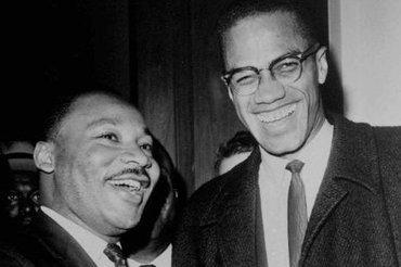 Malcom X (right) and Martin Luther King in Washington D.C. in 1964 (photo: AP)