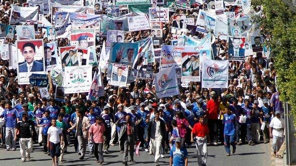 Protesters on the streets of Sanaa demonstrate against assurances of immunity for Saleh (photo: Reuters)