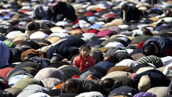 Muslims during Friday prayer in Cairo (photo: AP)