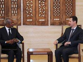 Kofi Annan, UN and Arab League's envoy to Syria, visits Syria's President Bashar al-Assad (photo: AP)