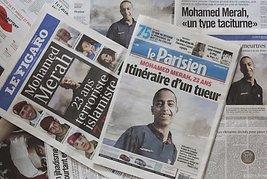 Mohamed Merah in French newspapers (photo: EPA)