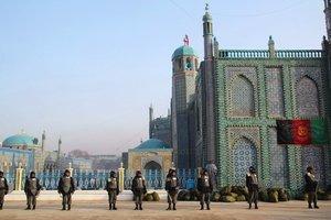 security forces guarding  the Nouruz festivities in Mazar-i-Sharif (photo: Marian Brehmer)