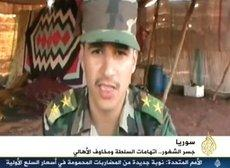 Abdel Razaq Tlass, Kommandeur der Al Farouk-Brigade in Homs; Foto: screenshot Al-Jazeera