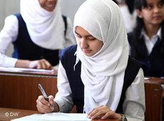 Female student at a school in Tripoli (photo: Essam Zuber/DW)
