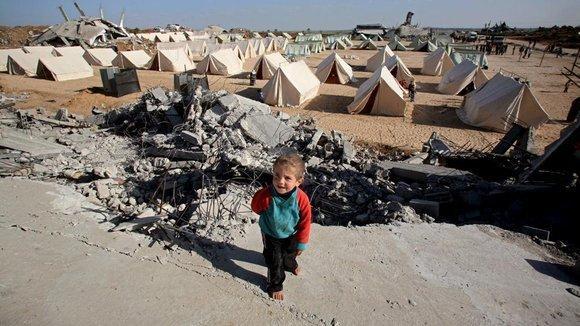 Refugee camp in Jabaliyya in the Northern part of th Gaza strip (photo: dpa)
