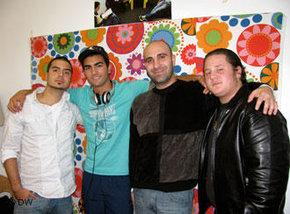 Ahmed Mansour and three activists from the Berlin-based 'Heroes' project (photo: DW)