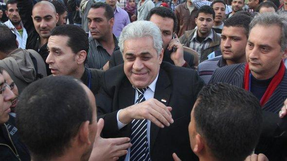 Hamdeen Sabahi during his presidential campaign tour in Cairo (photo: Reuters)