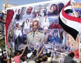 Plakathuldigung für Feldmarschall Mohammed Hussein Tantawi; Foto: AP