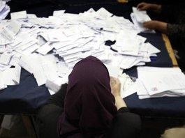 Counting of votes in a polling station in Cairo (photo: dpa)
