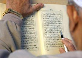 Man reading the Koran (photo: dpa)