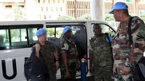 UN observers in Hama (photo: dpa/picture-alliance)