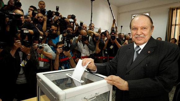 Algeria's President Bouteflika at the ballot box (photo: Reuters)