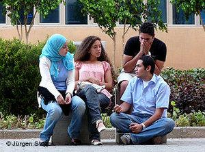 Students at the German University in Cairo (photo: Jürgen Stryak)