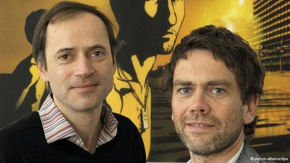 The film producers Gerhard Meixner (left) and Roman Paul (photo: picture-alliance/dpa)
