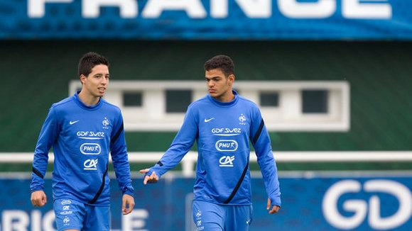 Samir Nasri and Hatem Ben Arfa (photo: Reuters)