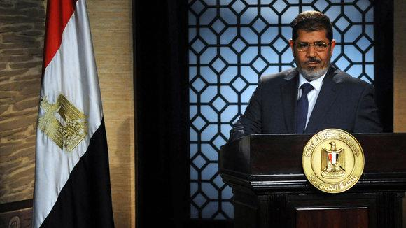 First televised address of Mohamed Morsi after his election (photo: Reuters)