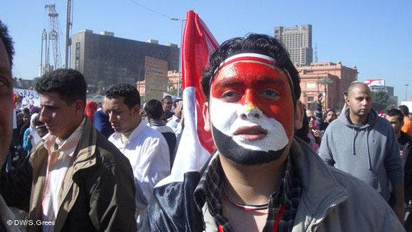 Protest at Tahrir Sqare in Cairo (photo: Samir Grees/DW)