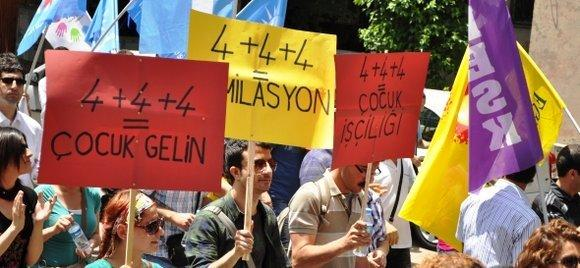 Demonstration in Ankara against the planned school reform (photo: Eğitim-Sen)