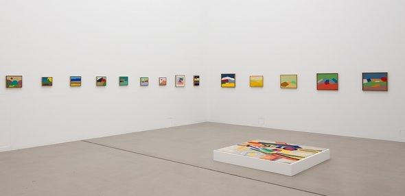 Exhibition space filled with works by Etel Adnan at dOCUMENTA (13) (photo: Anders Sune Berg)