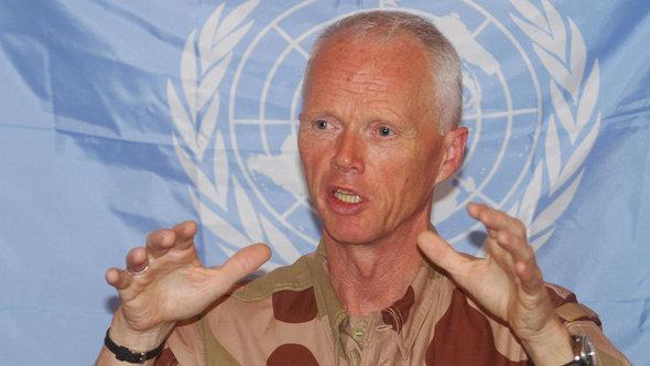 Maj Gen Robert Mood, the head of the UN observer mission in Syria (photo: Bassem Tellawi, Pool/AP/dapd)