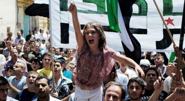 Demonstration in Idlib in June 2012 (photo: dapd)
