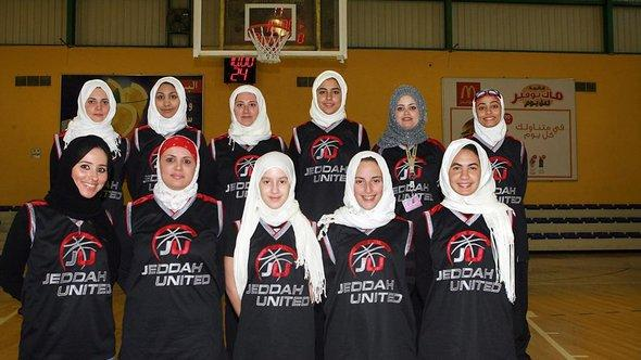 The women's team at the Saudi Arabian basketball club Jeddah United (photo: picture-alliance/dpa)