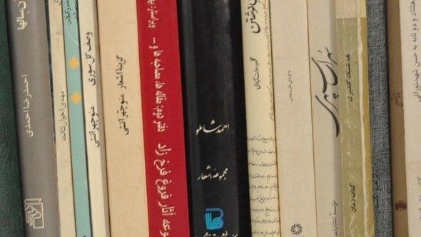 Bücher von iranischen Schriftstellern; Foto: DW