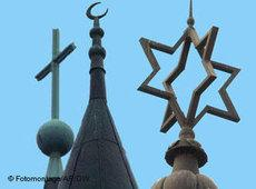 Symbols of the three Abrahamic religions (source: AP/DW)