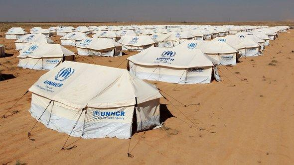 The new Zaatri refugee camp for Syrian refugees on the Jordanian-Syrian border in Jordan (photo: Reuters)