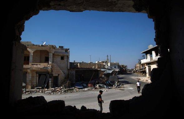 Zerstörungen in Aleppo; Foto: AP