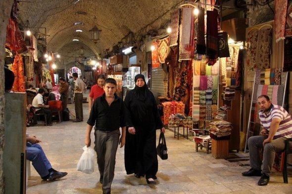 Aleppo's souk (photo: dpa)