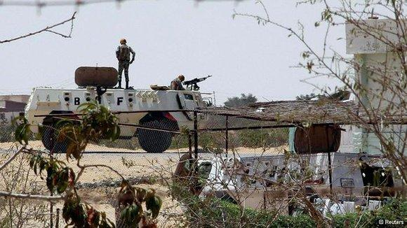 Egyptian military in the Sinai (photo: Reuters)