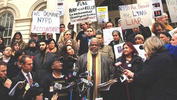 Imam Talib during a demonstration in New York, Photo: DAPD