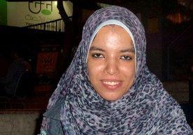 24-year-old democracy activist Doaa Mohamad (photo: Matthias Sailer)